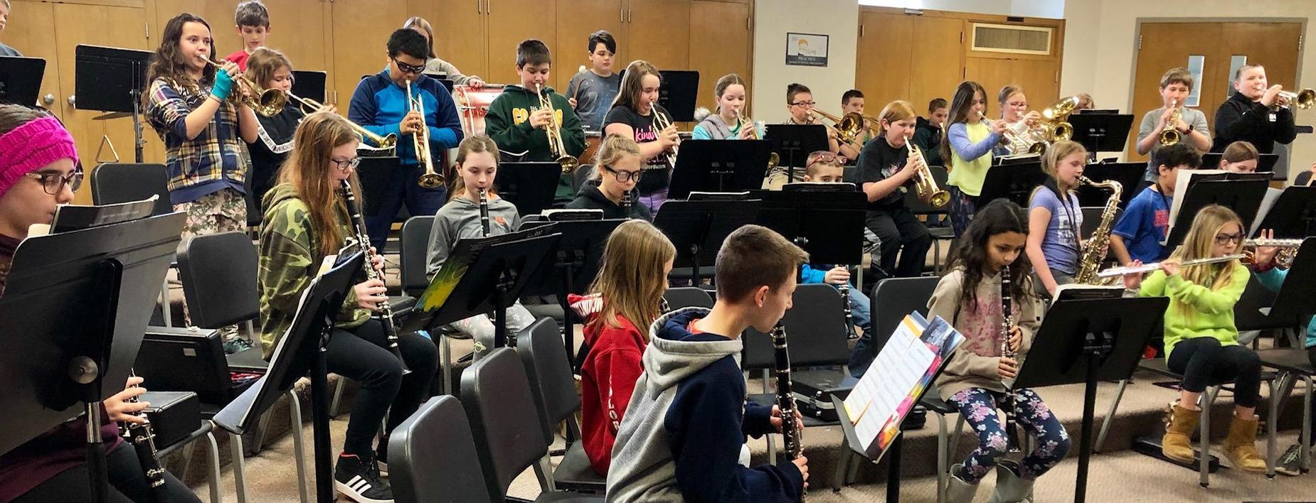 5th Grade Band at CCIS