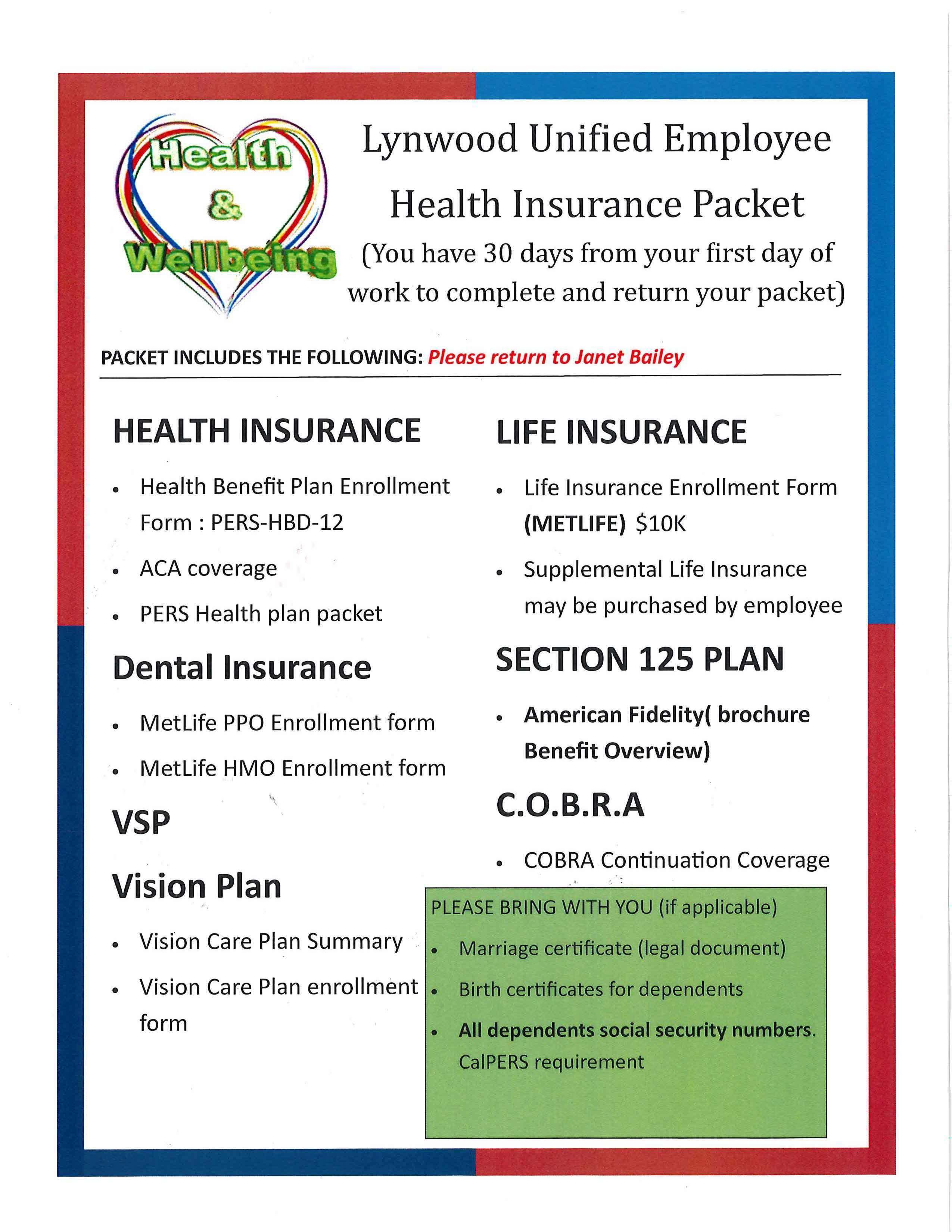 Benefits & Insurance – Payroll & Benefits – Lynwood Unified School ...