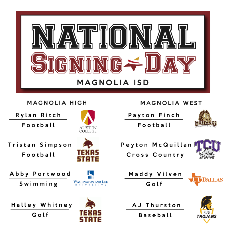National Signing Day for Magnolia ISD