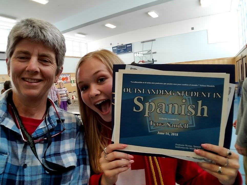Winner of the Outstanding Language Student