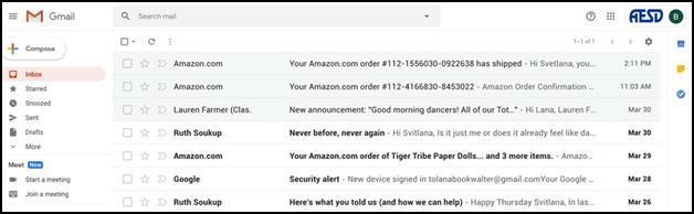 Google Mailbox