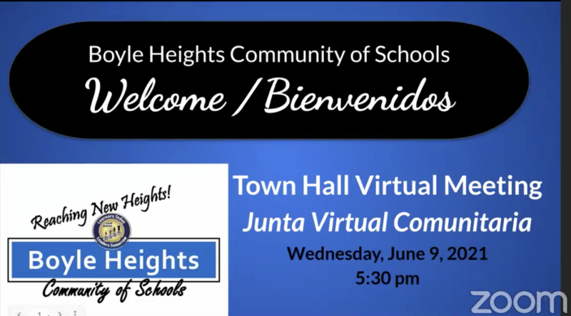 Boyle Heights CoS Town Hall Meeting Video- Wednesday, June 9, 2021 Featured Photo