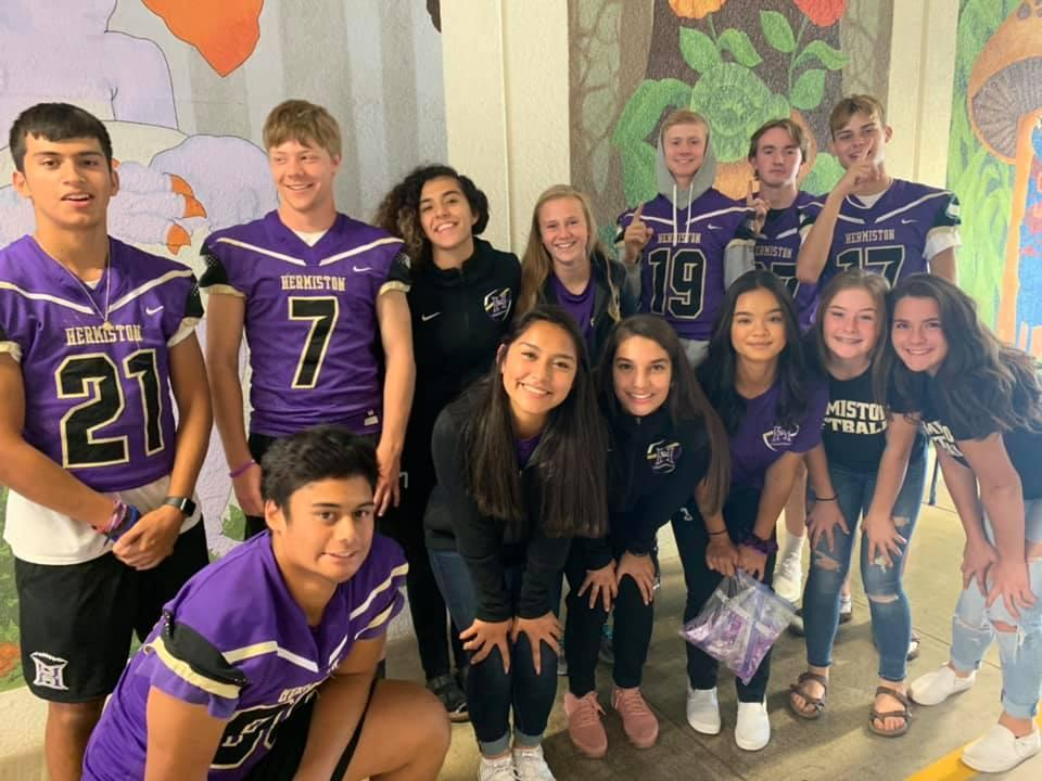 Student athletes at Rocky Heights Elementary