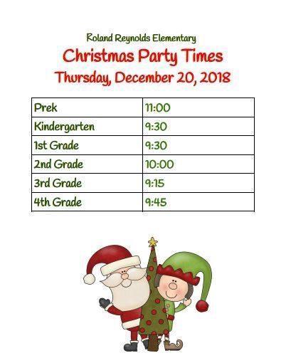 Christmas Party Times Thumbnail Image
