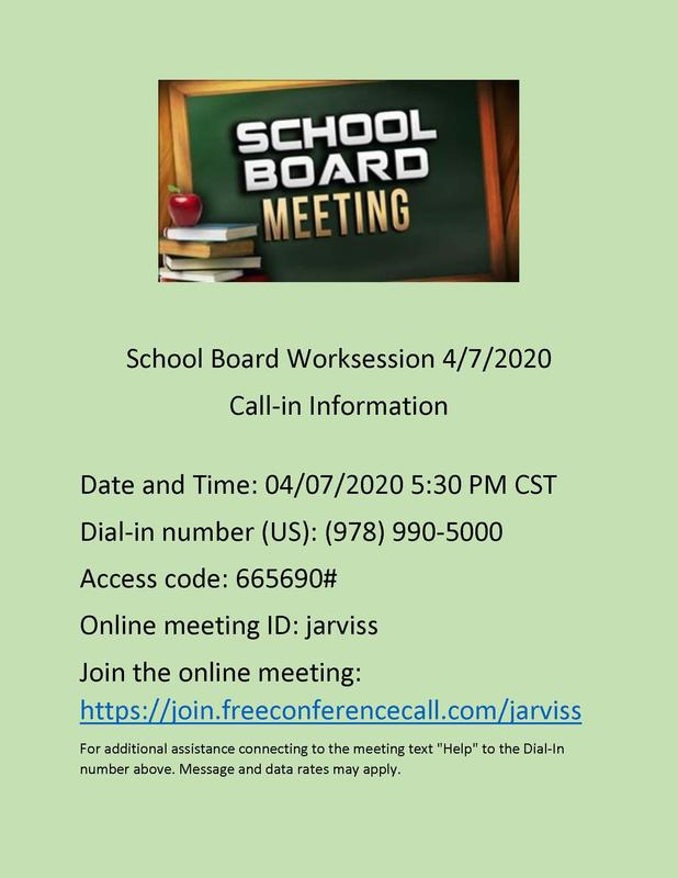 school board worksession info