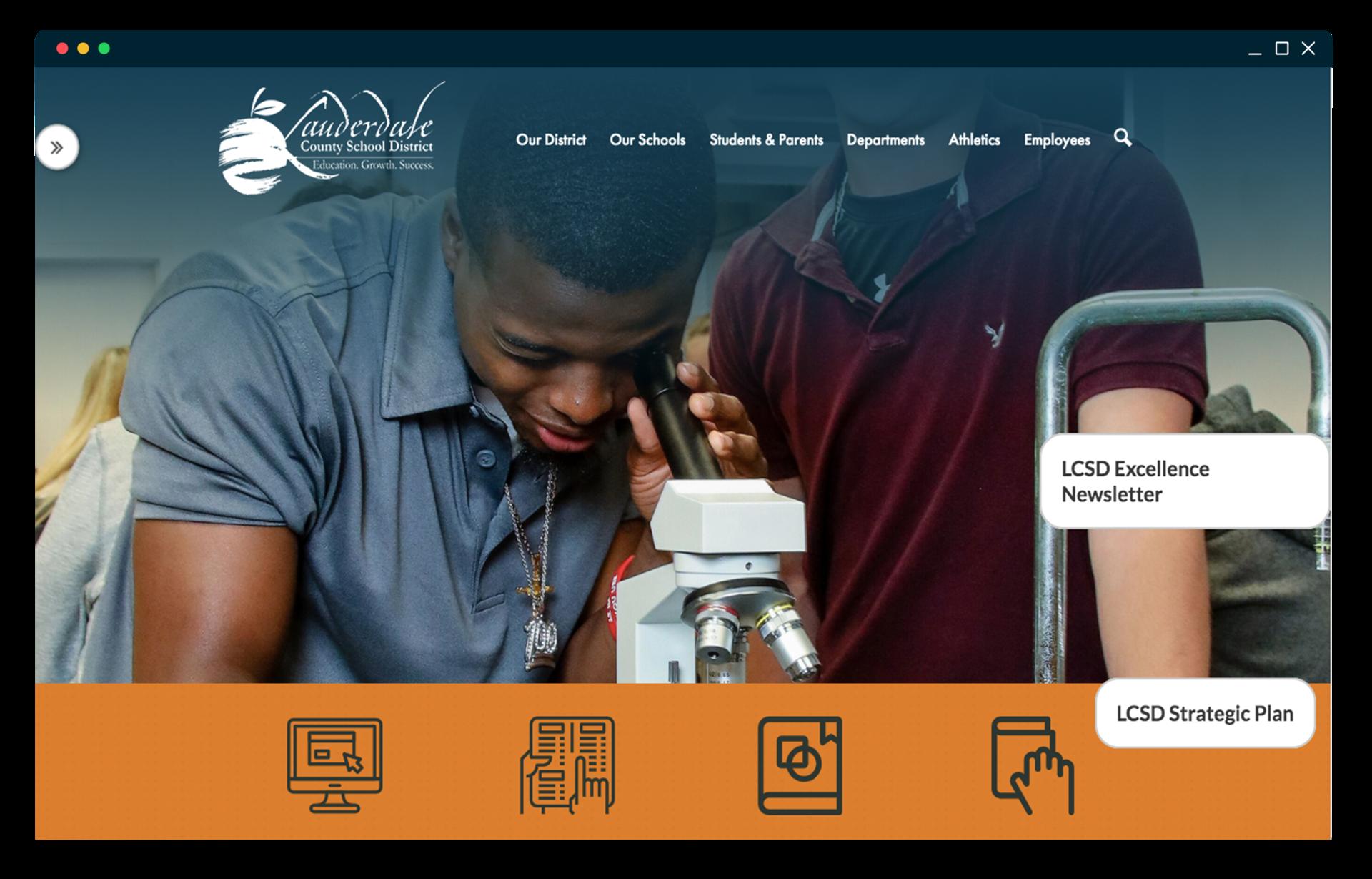 Lauderdale County School District new website homepage