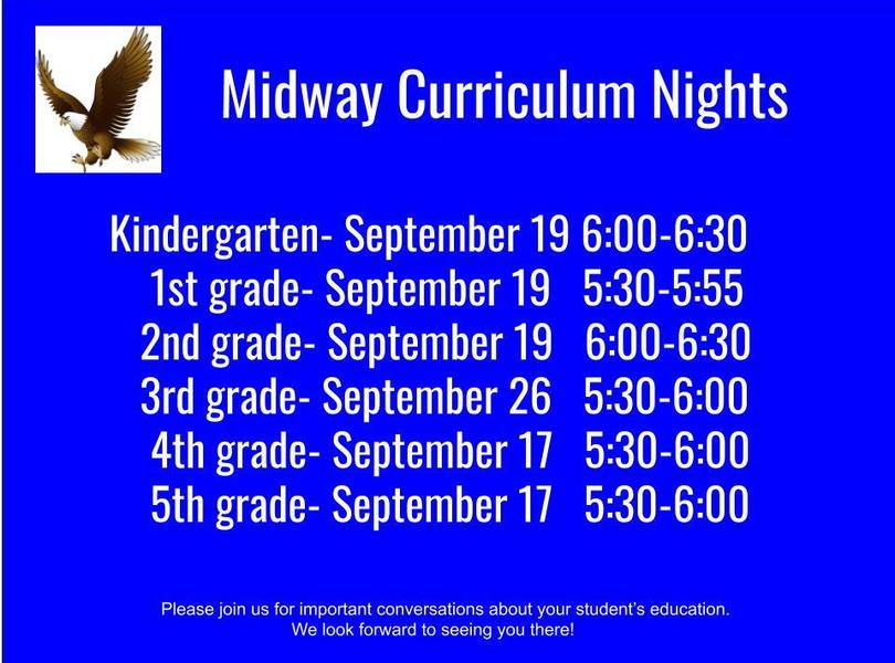 Midway Curriculum nights