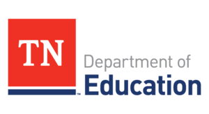 tennessee department of education logo; red box with