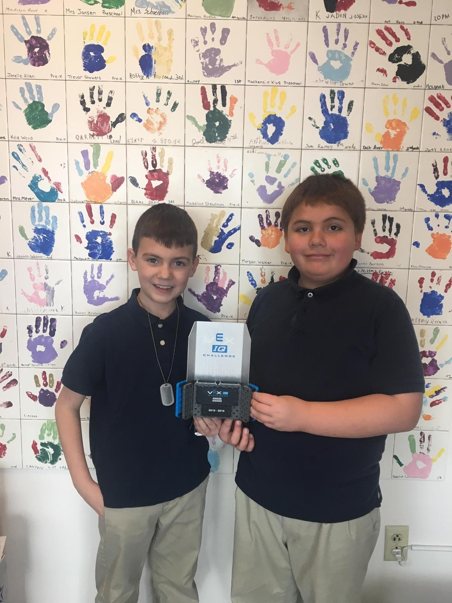 Student winners of Robotics Competition