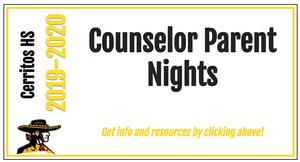Counselor Parent Nights