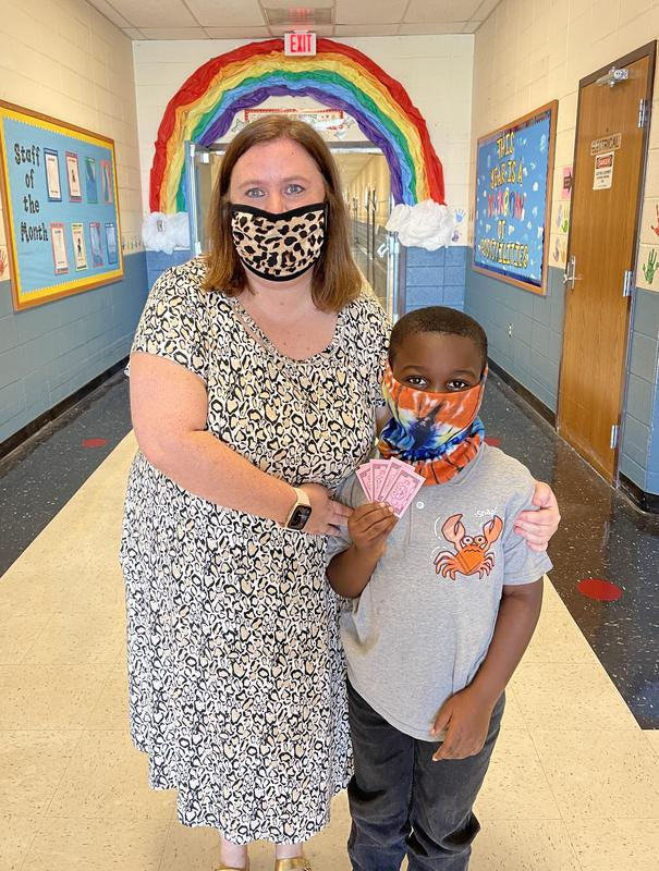 Quin'terius Carter scored the highest in Mrs. Kate Bowman's classroom.