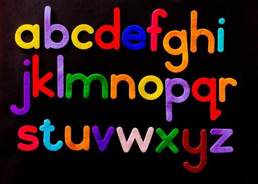 letters of the alphabet graphic.