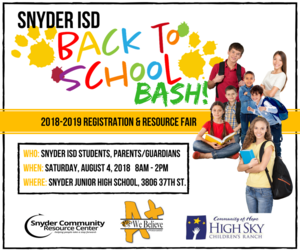 SAVE THE DATE! SISD BACK TO SCHOOL BASH IS PLANNED FOR AUGUST 4TH Featured Photo
