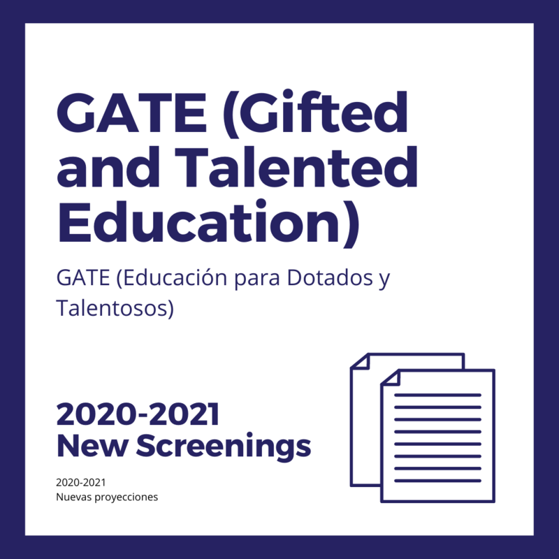 GATE (Gifted and Talented Education) Announcement! Featured Photo