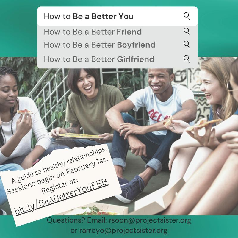 A guide to healthy relationships. Sessions begin on February 1st.