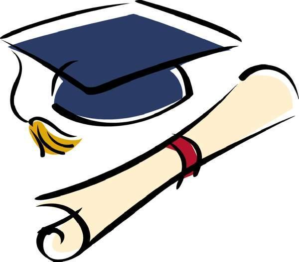 Pic of graduation cap and diploma