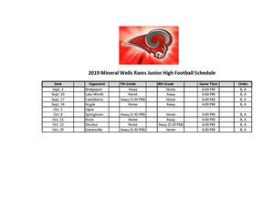 MWJH Football Schedule