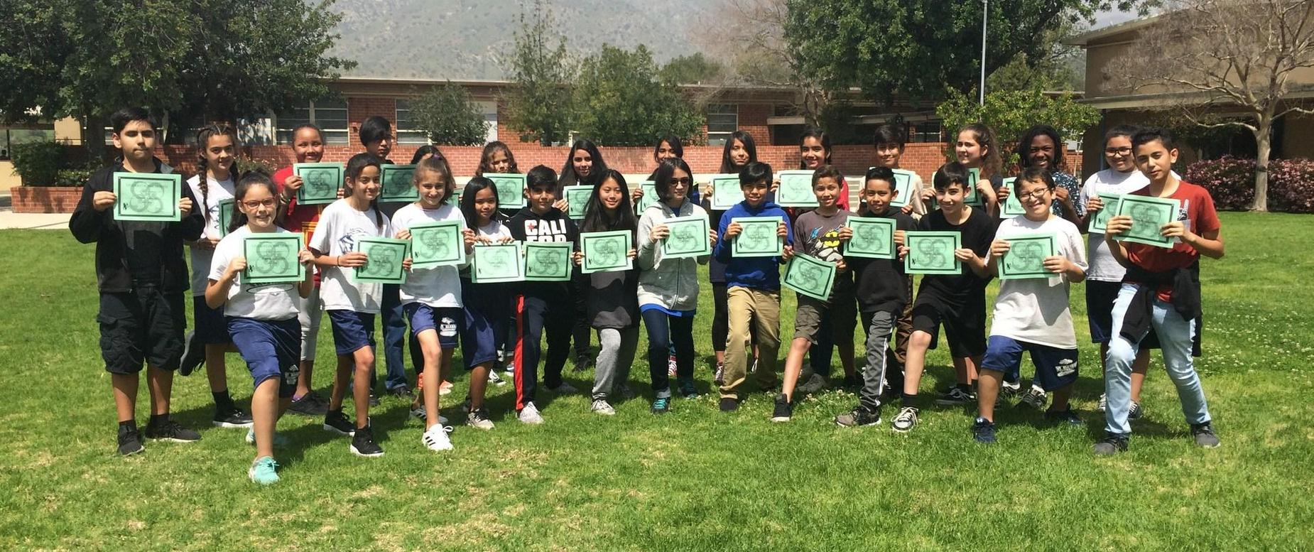 Students of the Month for February 2018