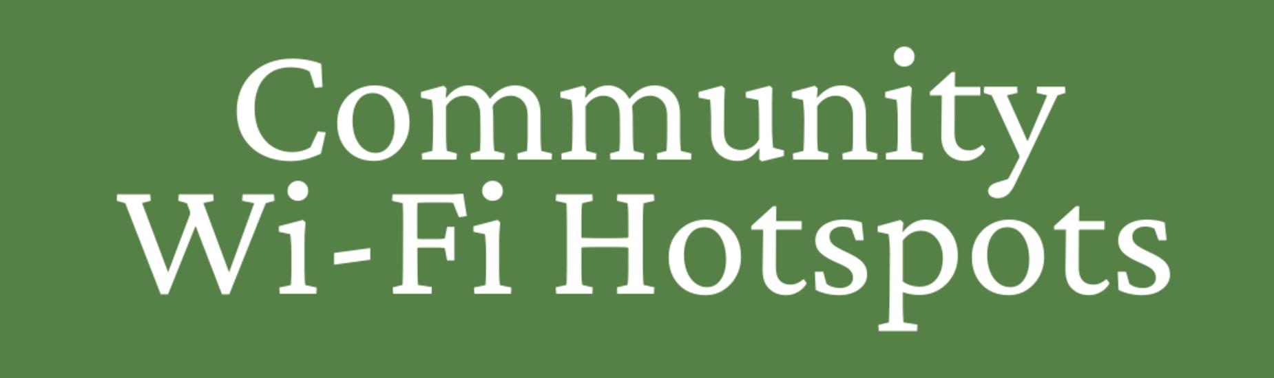 Community Wifi Hotspots List