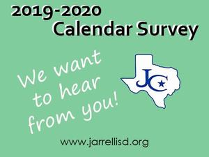 Take a survey on the 2019-2020 calendar