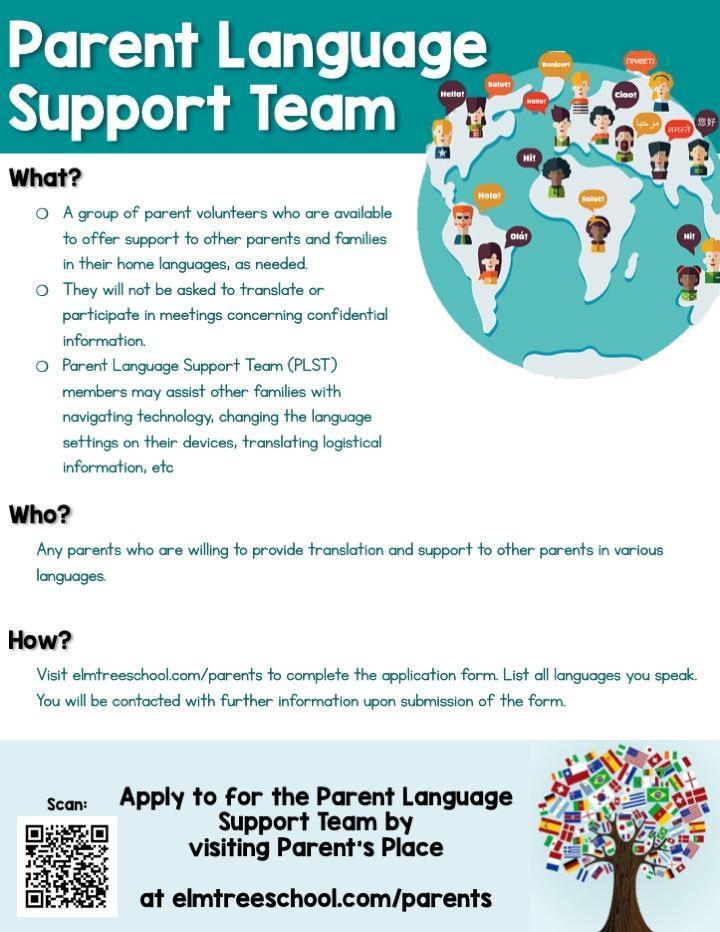 Parent Language Support Team
