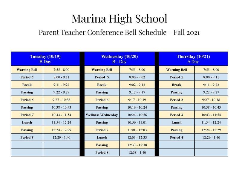 October Conferences Schedule
