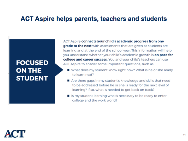 ACT Aspire flyer