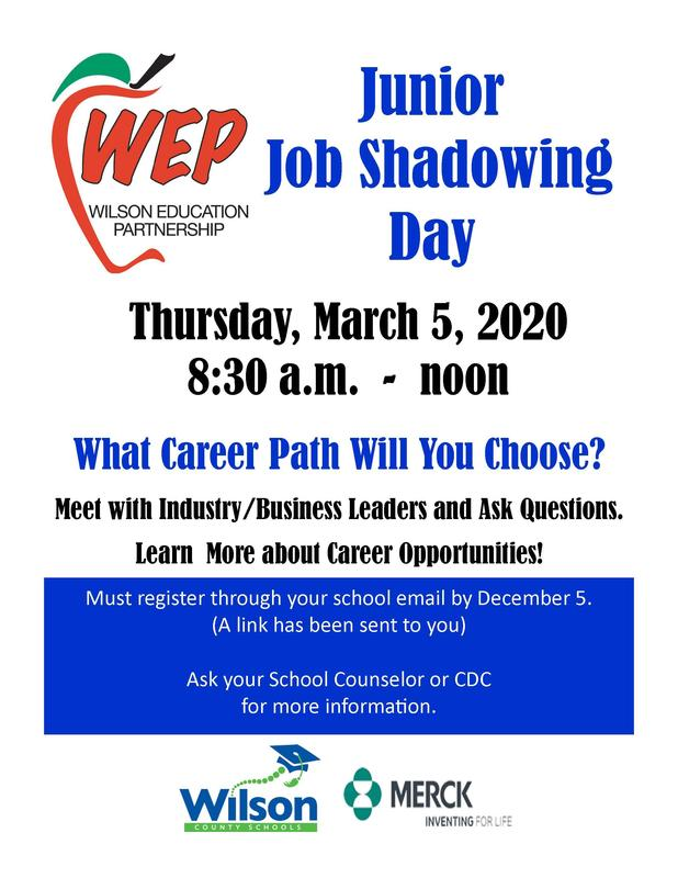 flyer for job shadowing day