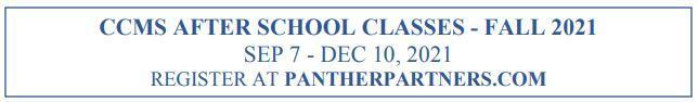 After School Program Classes - Registration now open! Thumbnail Image