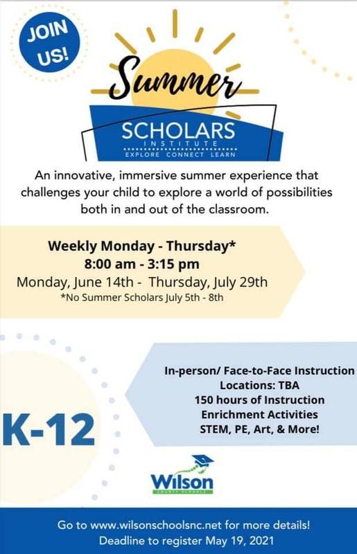 Summer Scholars Flyer