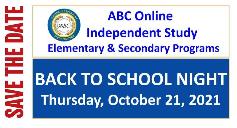 online study back to school announcement