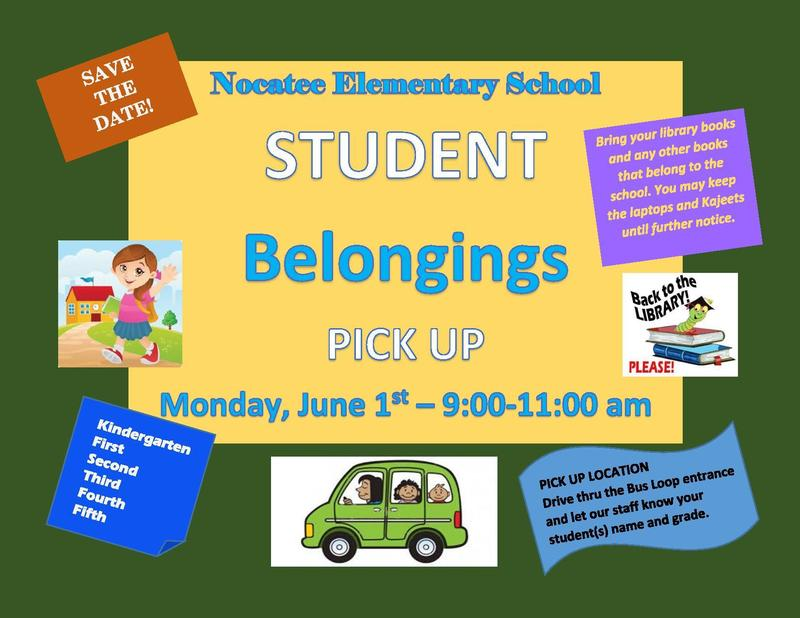 Student Belongings Pickup - June 1st @ 9-11:00 am /  Recogida de pertenencias estudiantiles - 1 de junio a las 9-11: 00 am Featured Photo
