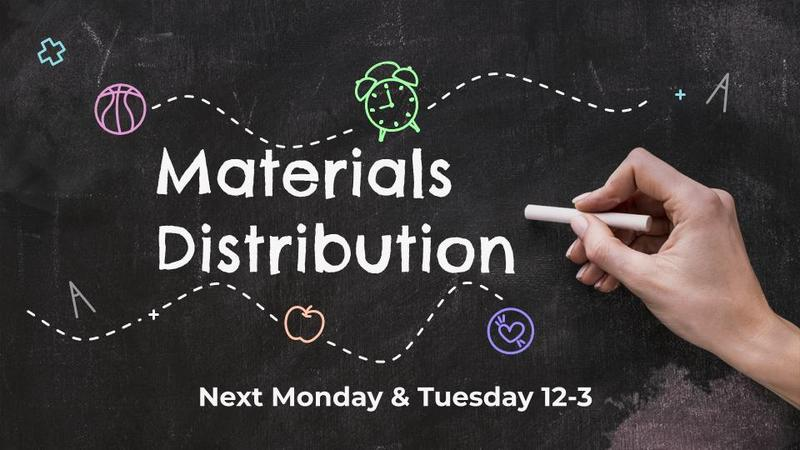 Materials Distribution September 28 & 29 Featured Photo