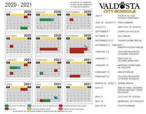 2020.21 DRAFT Academic Calendar