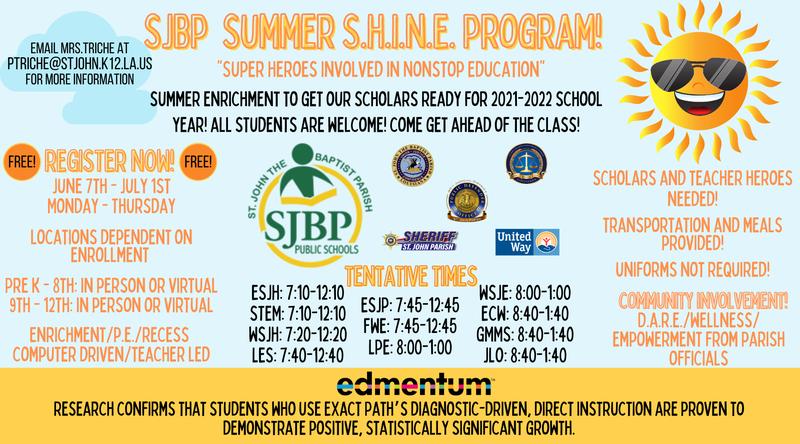 SJBP SUMMER S.H.I.N.E. PROGRAM Thumbnail Image