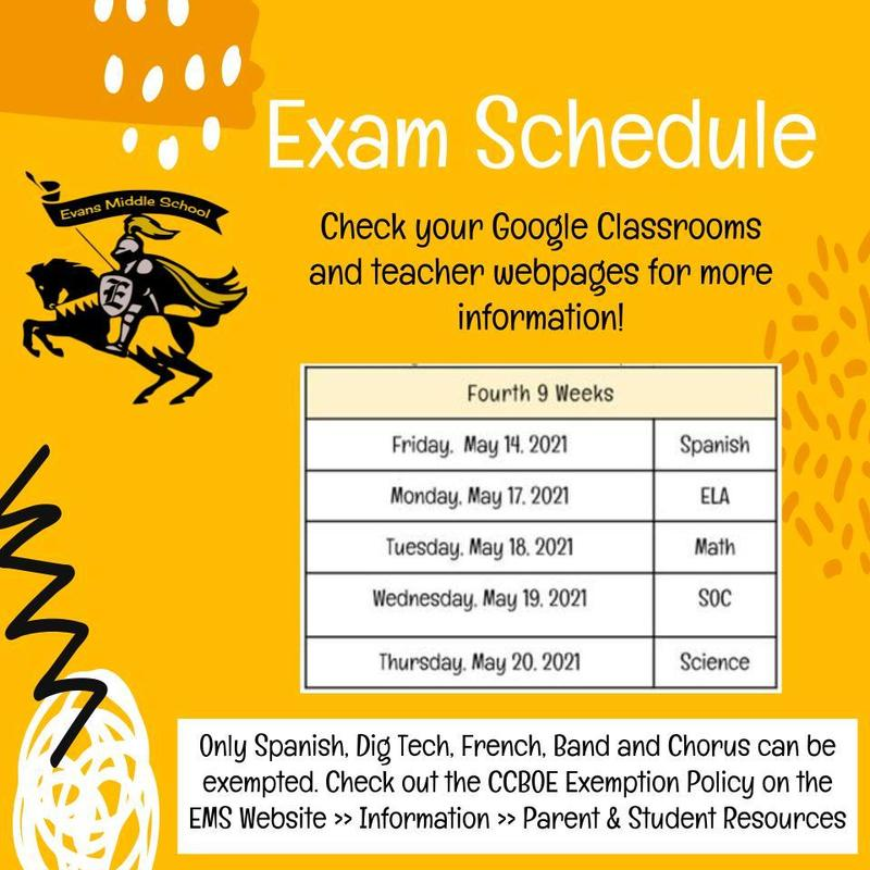 EMS final exam schedule 2021