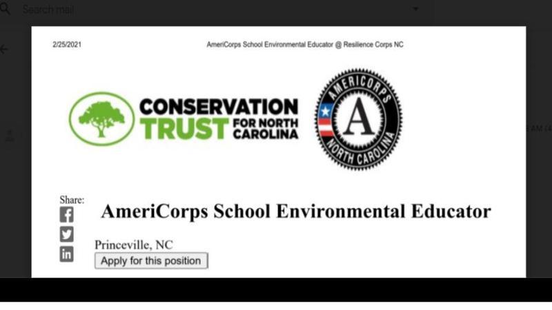 AmeriCorps School Environmental Educator Position Featured Photo