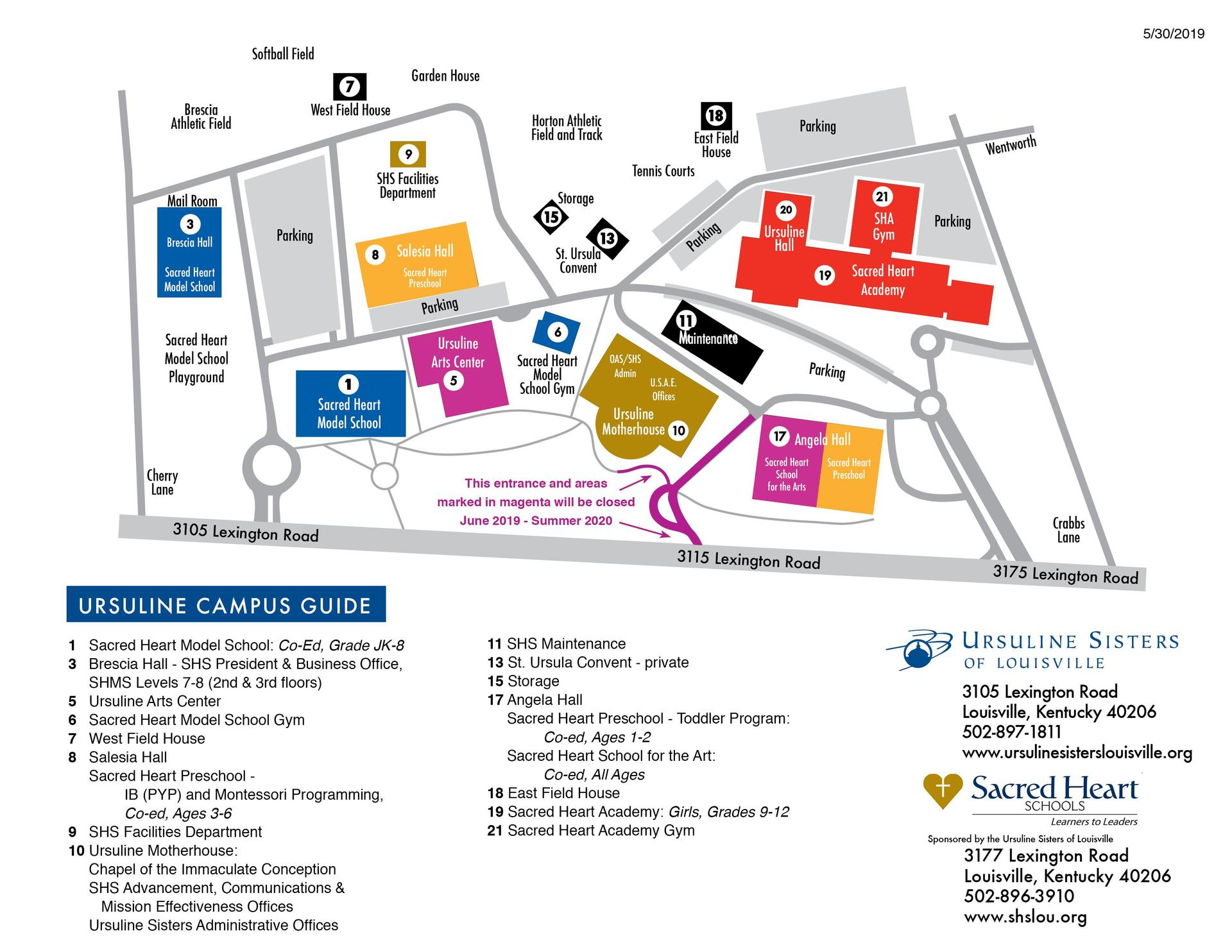 Sacred-Heart-Schools-Campus-Map