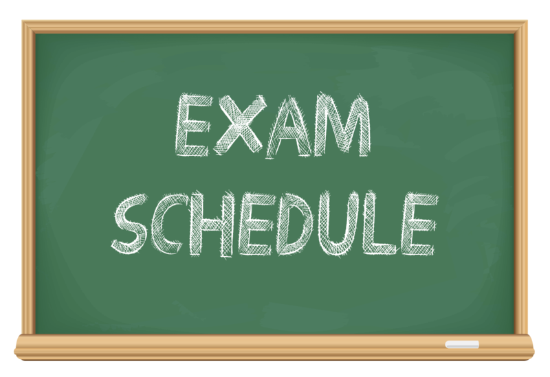 Semester Exam Schedule Thumbnail Image