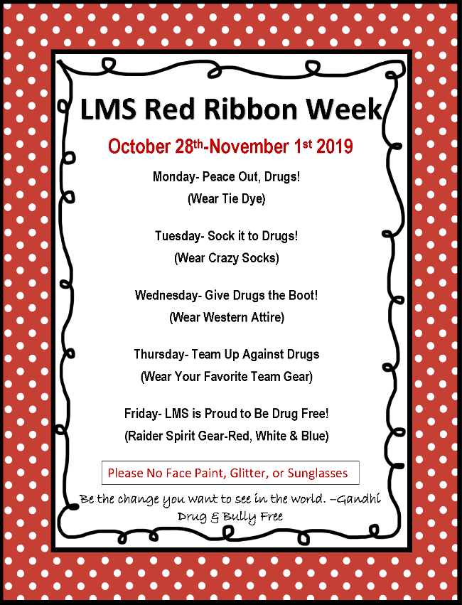 LMS Red Ribbon Week Activities