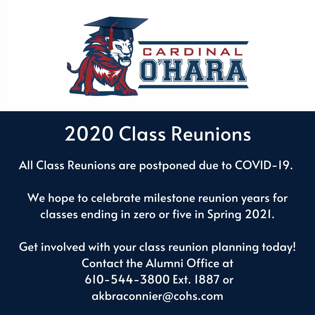 Reunions postponed