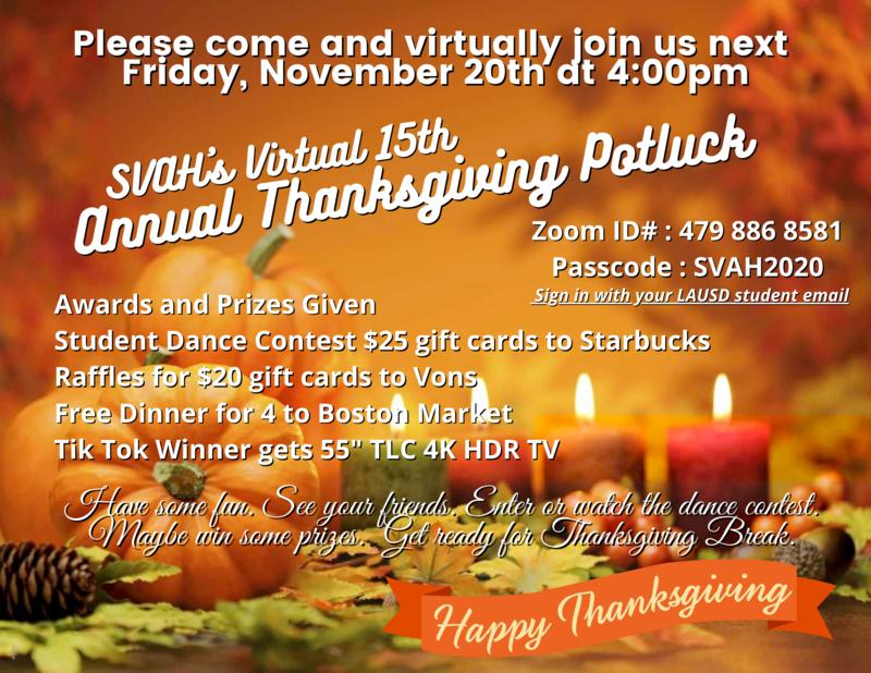 Virtual Annual Thanksgiving Potluck! Featured Photo