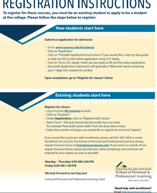 Career Skills Flyer page 2