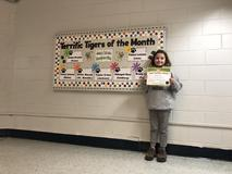 January Terrific Tiger of the Month for being Respectful: Abbagail Ross (4th).