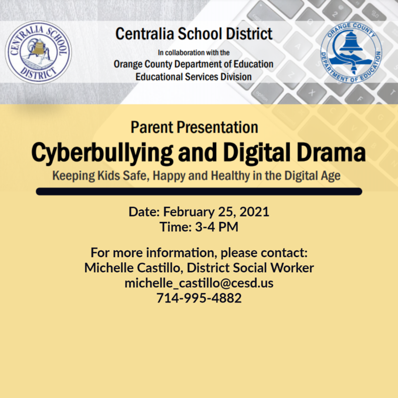 Cyberbullying and Digital Drama Parent Presentation