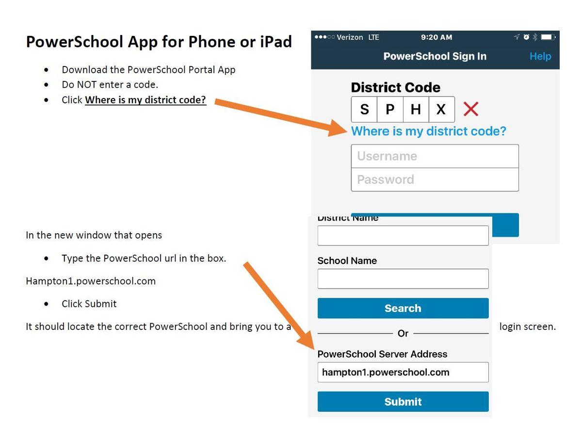 PowerSchool How to for Adding the APP