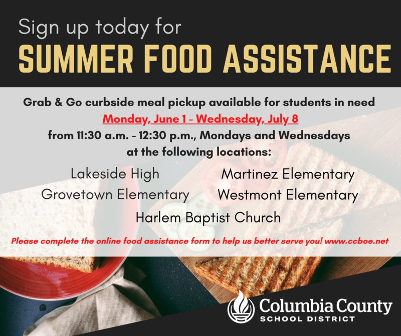 summer meal assistance infographic