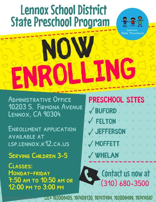 Preschool Enrollment Flyer
