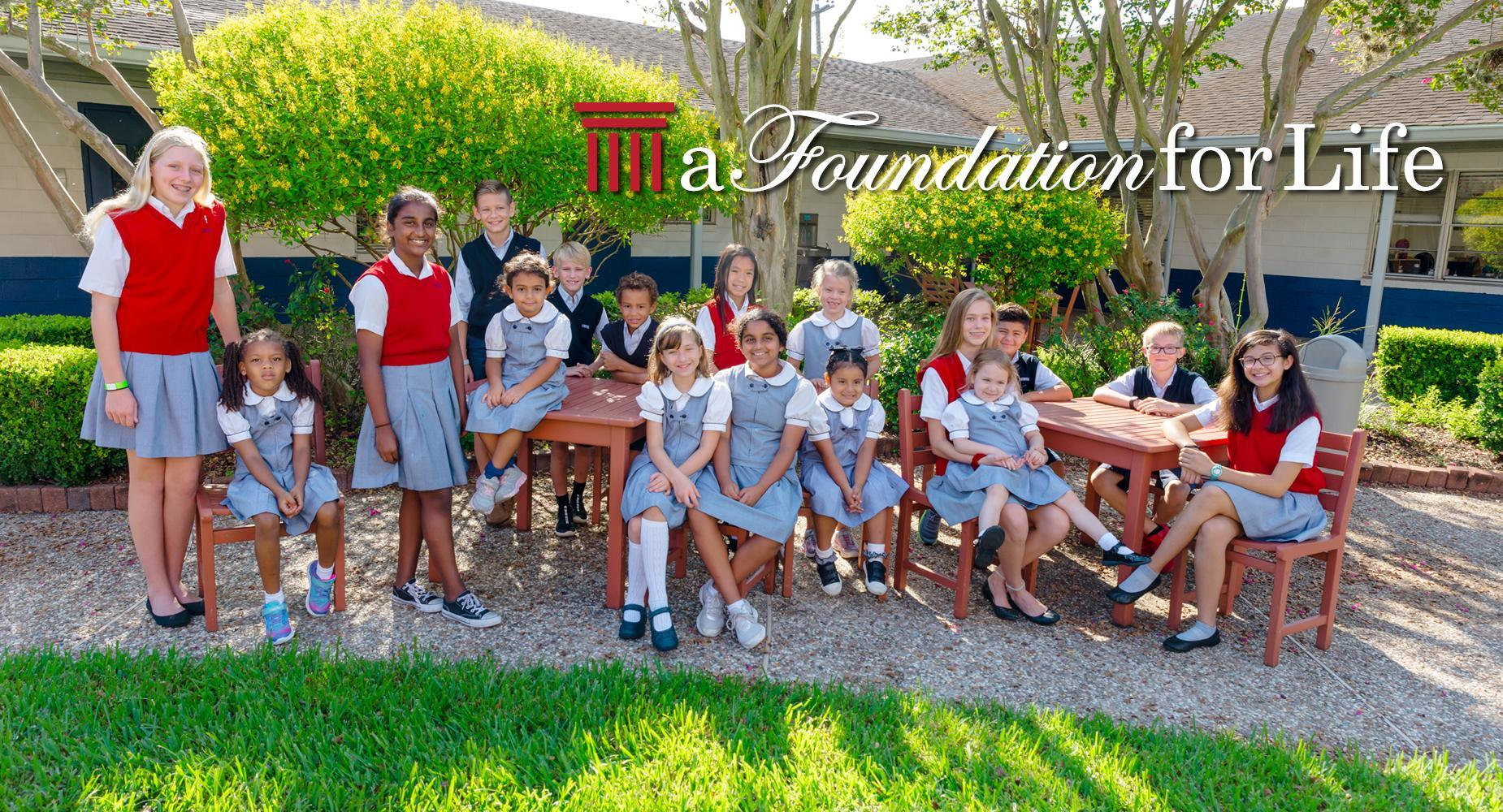 A Foundation for Life: A group of students