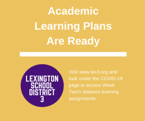 Academic Learning Plans Ready For Week Two
